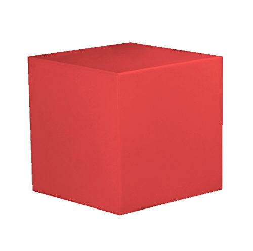 RONNIEART Kubus aus Kunststoff rot Sitzsack Base Beistelltisch Sitz Stuhl Hocker 40x 40x 40cm