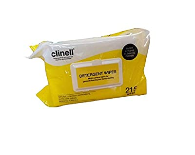 Clinell Detergent Wipes (22x28cm) Pack of 200 from Clinell