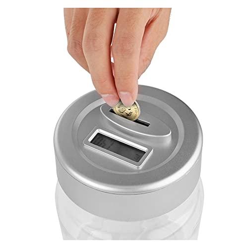 SMEJS Hucha Hucha Caja de Dinero Pantalla LCD Inteligente electrónico Cuenta Digital Moneda Caja de Ahorro de...