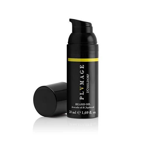 2 in 1 Bartöl & Haaröl - PLVMAGE´s Beard Oil - Made in Germany - 50ml Bart Öl für die Bartpflege - hochqualitatives Avocadoöl & Jojobaöl - sorgt für den Wow-Effekt!
