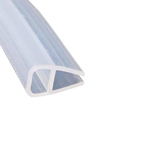 Mintice Tira de sellado para puerta de baño de ducha, para ventana, curvada, de goma, parte inferior de cristal de 8 mm, forma de C