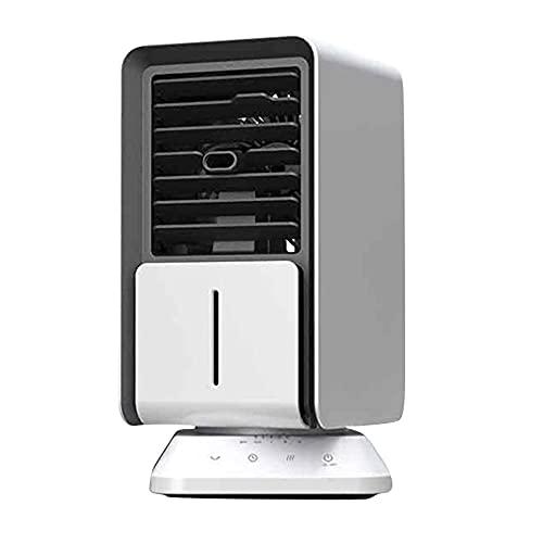 TaoAi Enfriador de Aire Personal, humidificador evaporativo portátil, con función de Temporizador y automático de 90 °, acondicionador purificador de 3 velocidades de Viento para Sala de Oficina