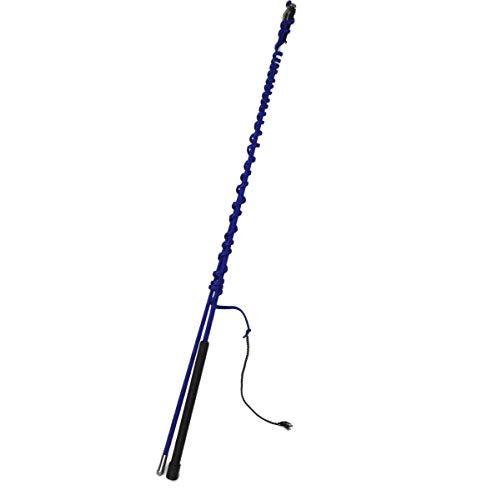 Longierpeitsche 200cm teilbar schwarz blau o. rot leicht Peitsche mit Wirbel, Farbe:blau