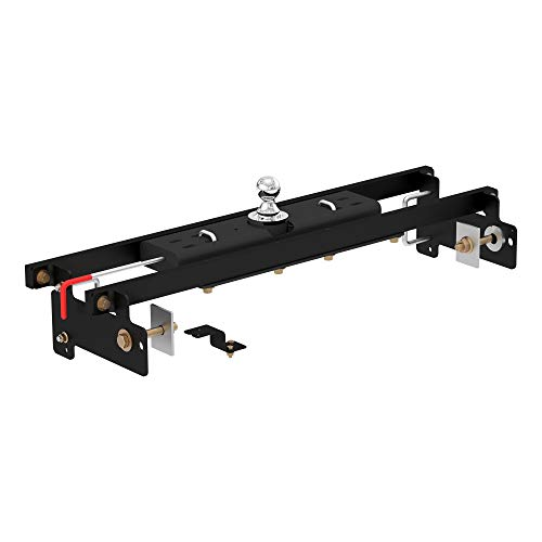 CURT 60711 Double Lock Gooseneck Hitch with Flip-and-Store Ball, 30,000 lbs., 2-5/16-Inch Ball, Fits Select Chevrolet Silverado, GMC Sierra 1500, 2500 LD,Black