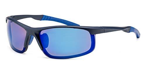 Filtral Herren Sportbrille/Leichte, blau verspiegelte Sonnenbrillen F3001059
