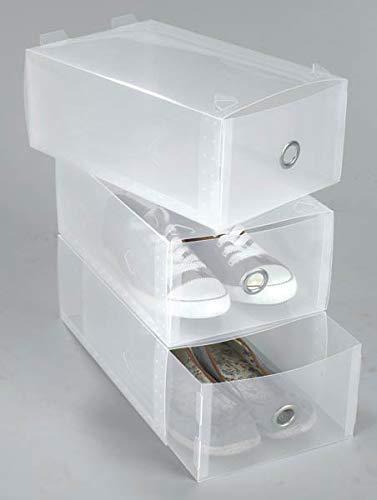 Westfalia Boîtes de rangement pour chaussures avec tiroirs, transparentes, lot de 3