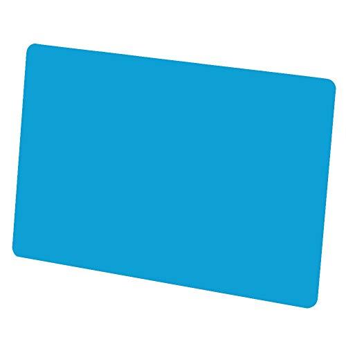 50 tarjetas de visita personalizables, tarjetas en blanco de aleación de aluminio para negocios y tarjetas de regalo, 3.4 x 2.1 in(Azul)