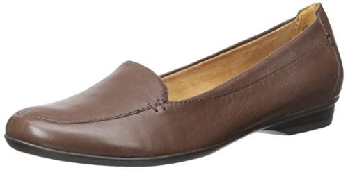Naturalizer Women's Saban Loafer Flat, Brown, 8.5 Narrow