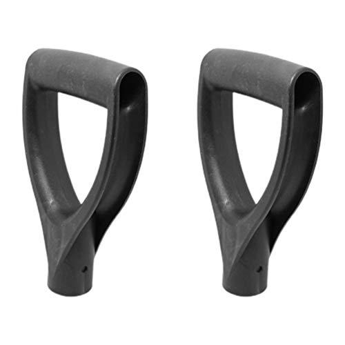 BESPORTBLE 2Pcs Shovel D Grip Handle Back-Saving Tool Handle Attachment for Labor-Saving Ergonomic Shovel Digging Raking Tool