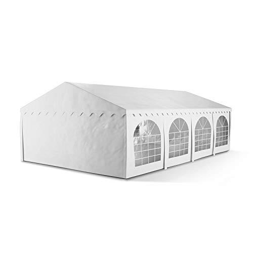 blumfeldt Sommerfest 5x8m 500 g/m² Partyzelt Pavillon Bierzelt Festzelt PVC Plane wasserdicht verzinkt weiß
