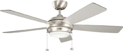 Kichler 300173NI, Starkk Brushed Nickel 52' Ceiling Fan with...