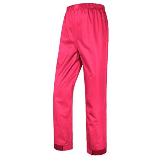 YDS Shop Regenbroek, uniseks, 2-laags versterkt, slijtvast en ademend, geschikt voor het vissen, paardrijden van motorfietsen, elektrische fietsen XXXXl roze