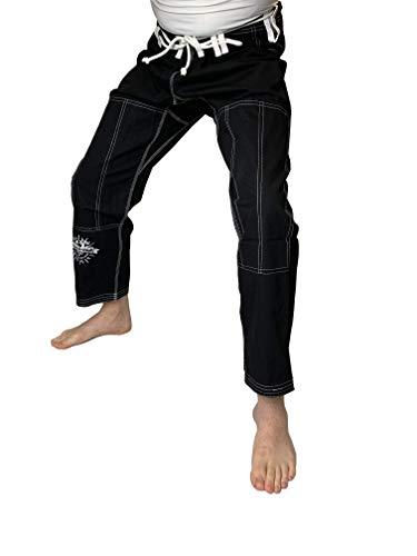 Choke&Chill BJJ Gi - Pantaloncini da uomo Brazilian Jiu-Jitsu Kimono Luta Livre Grappling (nero, A3L)