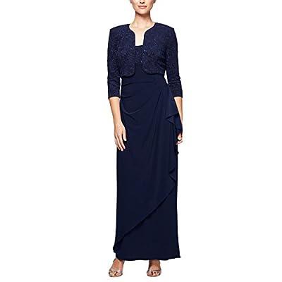 Alex Evenings Women's Empire Waist Bolero Jacket Dress (Petite and Regular Sizes)