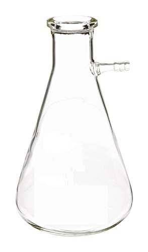 DULAB Borosilicate Glass Filter Flask, 100 ml, 6.4 cm x 10.8 cm