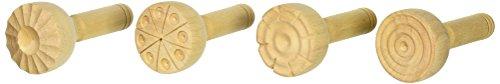 School Smart Wooden Clay Stamp Set, Set of 4