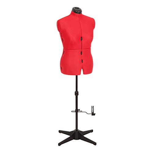potente para casa Adjustoform 023817 Red Sew Stylish Dummy UK 16-22 Sastre ajustable, 8 piezas