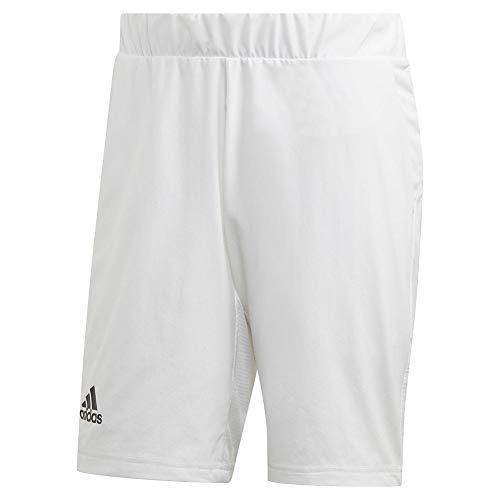 adidas Pantalones Cortos 2 en 1 Heat Ready para Hombre, Hombre, Pantalones Cortos, IPC97, Blanco, M