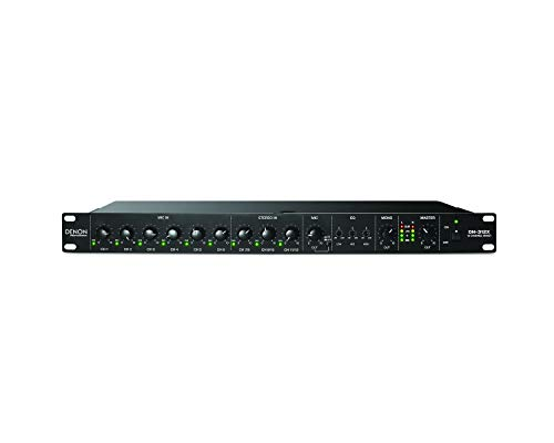 Denon Professional DN-312X – Rackmount 12 Channel Line Mixer with Priority Featuring 6 HDHQ Mic Pre Combo Inputs