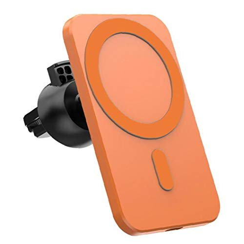 GGOOD Cargador Inalámbrico De Montaje Magnético Naranja Reemplazo del Soporte Sin Hilos del Coche para iPhone 12 Pro Mini MAX Magsafe