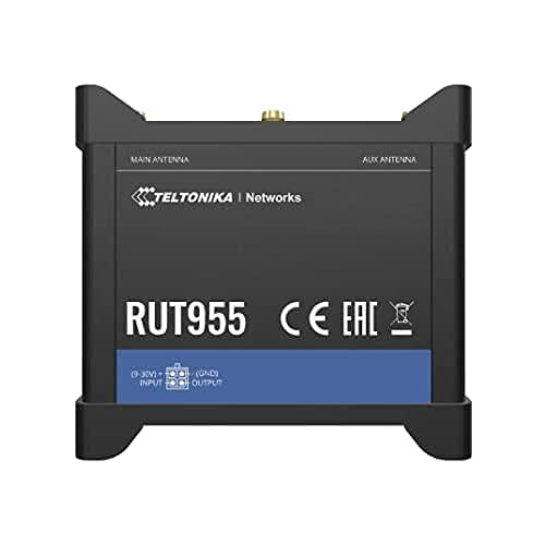 Teltonika RUT955 Europe LTE dual SIM router with WiFi,, RUT955_T7V3C0 (LTE dual SIM router with WiFi, 4x Ethernet ports, I/O, RS232, RS485, GNSS)