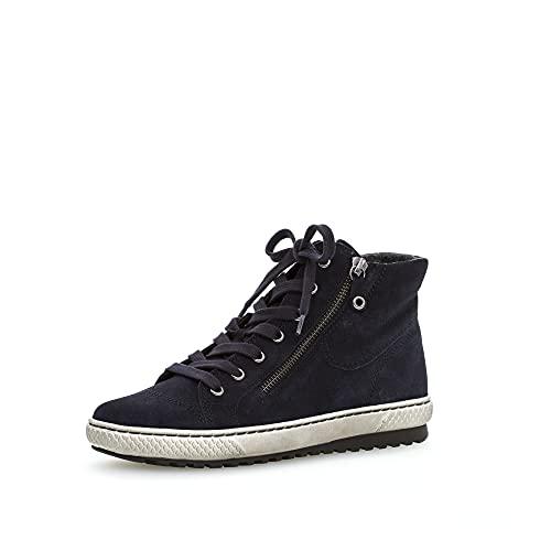 Gabor Damen High-Top Sneaker, Frauen Sneaker high,Freizeitschuhe,Turnschuhe,Laufschuhe,Women's,Woman,Lady,Ladies,Halbschuhe,Marine,35.5 EU / 3 UK