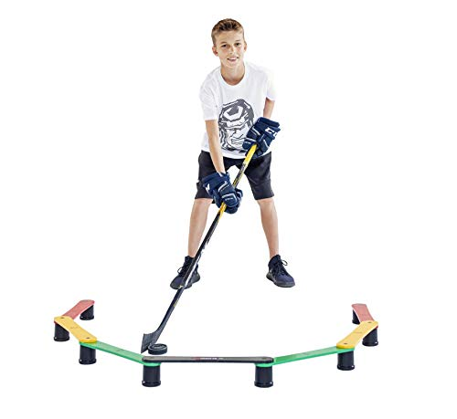 Hockey Revolution Stickhandling Training Aid, Equipment for Puck Control, Reaction Time and Coordination 2nd Generation (My Enemy LIT)