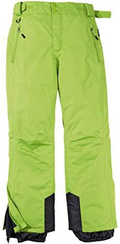 Byrak Herren Skihose Schneehose Snowboardhose Winterhose Funktional (50, Grün)