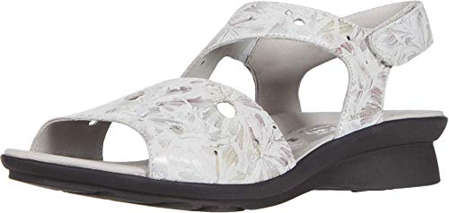 Mephisto Women's Phiby Perf Ankle Straps Sandals Light Grey 9 M US