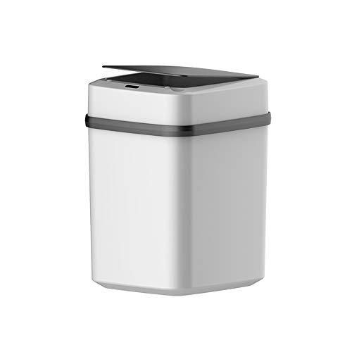 Nye Open Smart Mülleimer, Ultra-Wide-Automatiksensor mit Abdeckung, Infrarotsensor, Edelstahl, Schwarz-Weiß-Farbabstimmung, Batterie, 12 l