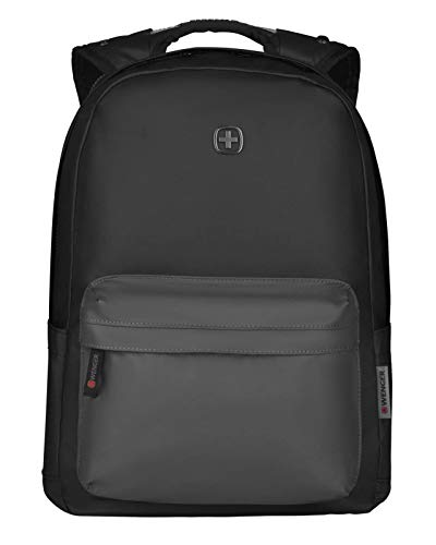 Wenger 606968 PHOTON 14' Water-resistant Laptop Backpack, Padded laptop compartment with Lockable zippers in Black {18 Litres}