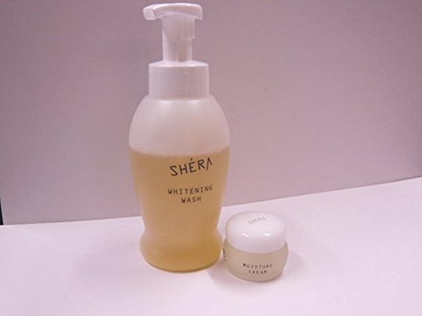 手綱近代化するスクランブルきれいになる2!SHERA シェラバートン シェラウオッシュ 380ml泡タイプ+SHERA moisture cream(保湿ジェル)35g