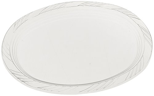 "Blue Sky 10 Count Heavyweight Plastic Oval Platters, 9"" x 12"", Clear"