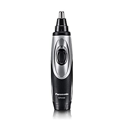 Panasonic Nose Hair Trimmer and Ear Hair Trimmer ER430K, Vacuum Cleaning System, Men's, Wet/Dry, Battery-Operated
