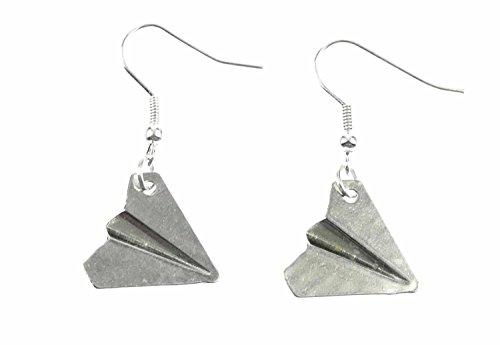 Miniblings Papierflieger Ohrringe Flieger Schule Origami Flugzeug Style Urlaub - Handmade Modeschmuck I Ohrhänger Ohrschmuck versilbert