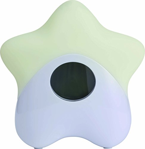ABUS Nachtlicht Lily mit Temperaturanzeige - Baby-Licht - eingebauter Akku - mehrfarbig - lange Laufzeit - weiß - 73155