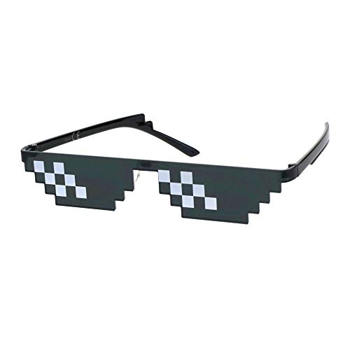 Óculos de sol Thug Life Pixel Gangster Gangsta Life Funny Novelty Shades, Double, One Size