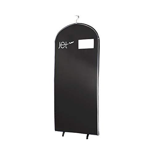 Compactor Funda larga para abrigos óptima viajes. Con ventana transparente y percha, Color negro, Tamaño 60 x 5 x 137 cm, RAN4592