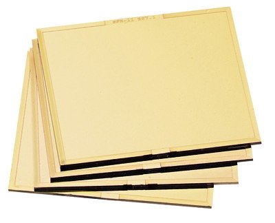 """Radnor 4 1/2"""" X 5 1/4"""" Shade 11 Gold-Coated Polycarbonate Filter Plate"""