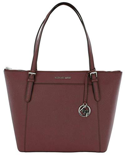 Michael Kors Ciara Shopper Tasche Jet Set Travel Saffiano-Leder Handtasche, Rot - Maulbeerrot - Größe: Large