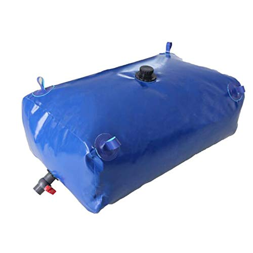 Sac de stockage d'eau domestique de grande capacité, grand réservoir de stockage d'eau épaissi monté sur véhicule, réservoir d'eau pliable avec valve, utilisé pour le lavage de voiture / jardin/ferm