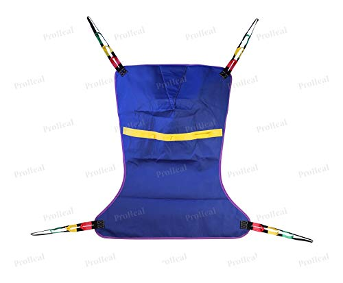 ProHeal Universal Full Body Lift Sling, XX Large, 64'L x 45' - Solid Fabric Polyester Slings for Patient Lifts - Compatible with Hoyer, Invacare, McKesson, Drive, Lumex, Medline, Joerns and More