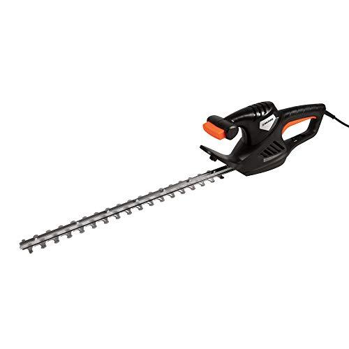 DELTAFOX Elektro Heckenschere - 51cm Messerlänge - 45cm Schnittlänge - 600 Watt starker Motor - 16mm Messerabstand - leicht handlich - Heckenschnitt - Hecke schneiden