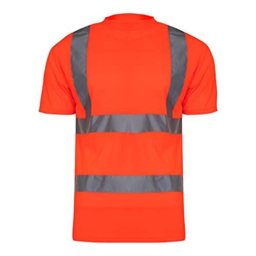 LAHTI PRO L4020703 T-Shirts Warnschutzkleidung GELB/ORANGE Arbeitsshirt, Größe: L/52