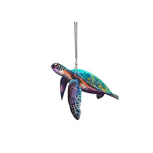 Adornos para colgante de tortuga 3D, diseño de tortugas de colores, decoración de espejos retrovisores de coche, adornos de coche, decoración de oficina, pared, dormitorio, sala de estar en casa