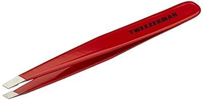 Tweezerman Stainless Steel Slant Tweezer, Signature Red