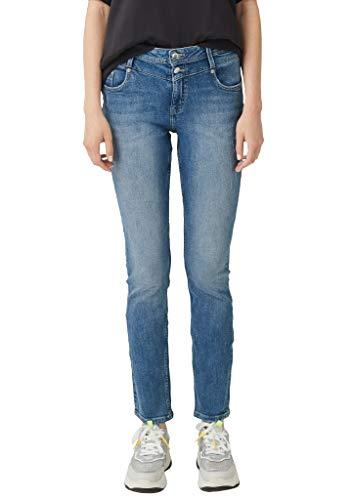 Q/S designed by - s.Oliver Damen 2004800 Slim Jeans, Blau (Blue Denim Havy Stoned 56z6), W28/L32 (Herstellergröße: 36/L32)