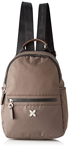 Munich CLEVER BACKPACK MEDIUM BROWN, BAGS para Mujer, Mediano