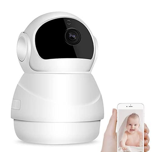 Bizcasa Telecamera IP, HD 1080P Telecamera di Sorveglianza WiFi, Baby Monitor Videocamera con Audio Bidirezionale e Visione Notturna, Activity Alert, 360° Ruotato
