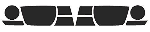Precut Vinyl Tint Cover for 2010-2013 Chevrolet Camaro Headlights (20% Dark Smoke)